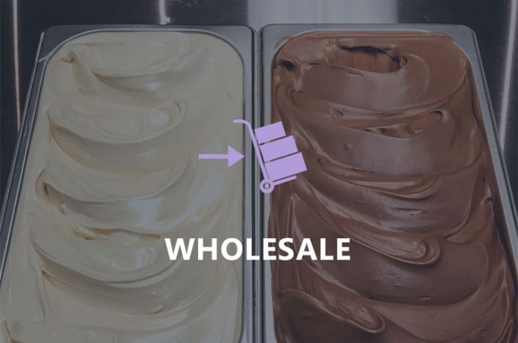 Wholesale gelato in containers